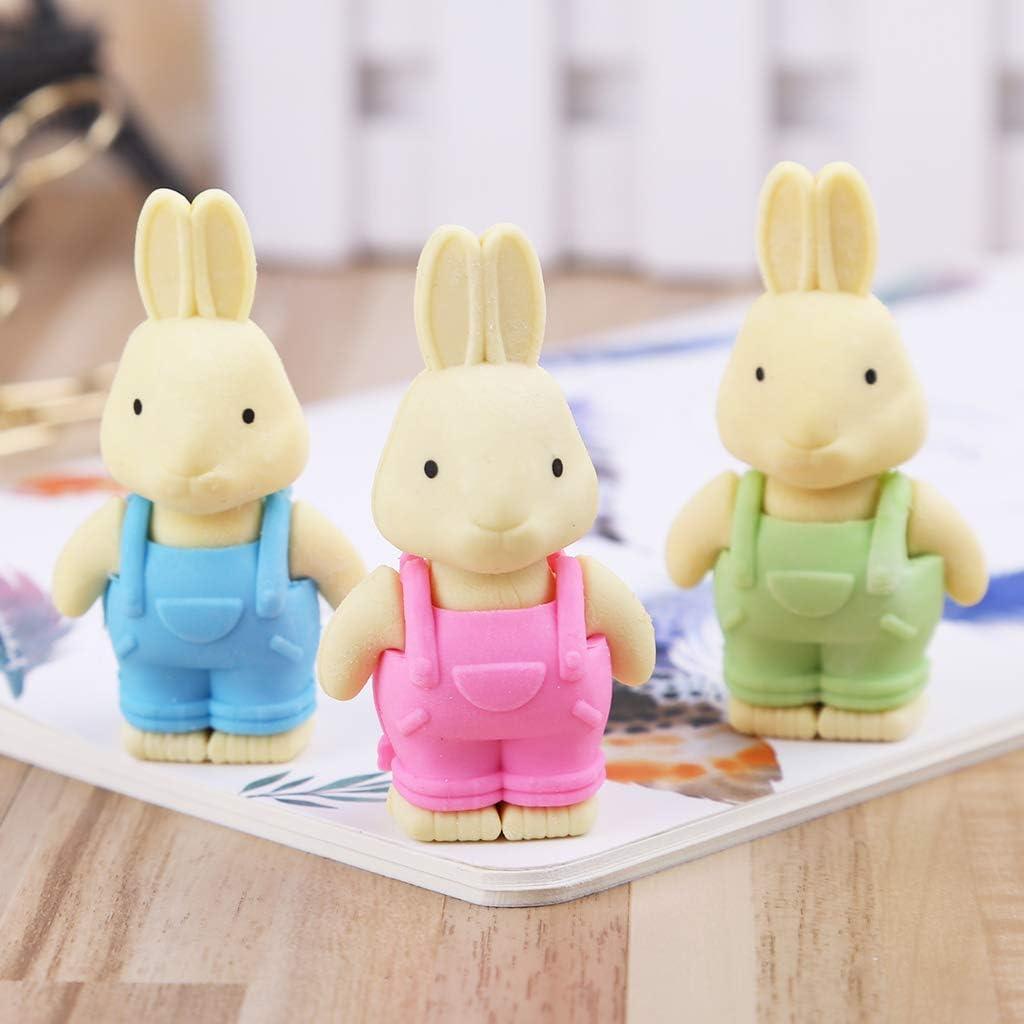 Viesky Mignon Lapin Gomme Fourniture Scolaire Crayon Papeterie Enfant Cadeau