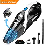 WELIKERA 12V 100W Cordless Handheld Vacuum with Stainless Steel Filter(Black)