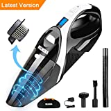 WELIKERA 12V 100W Cordless Handheld Vacuum with Stainless Steel...