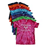 """Tennis Tie Dye T-Shirt with Front and Back Logo - """"For Girls With Game"""""""