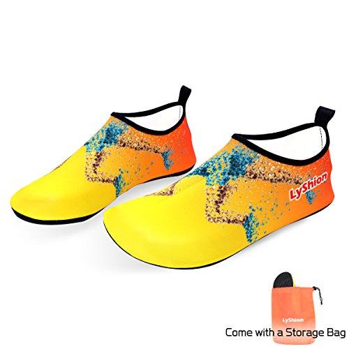 LYSHION Surfschuhe Junge Wasserschuhe Herren Schnell Kinder für Schwimmen Badeschuhe Damen Schlüpfen Trocknend Schwimmschuhe Aquaschuhe rfArqTwZ