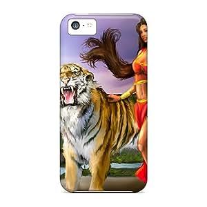 ChrisHuisman Iphone 5c Hybrid Cases Covers Bumper Tiger Queen