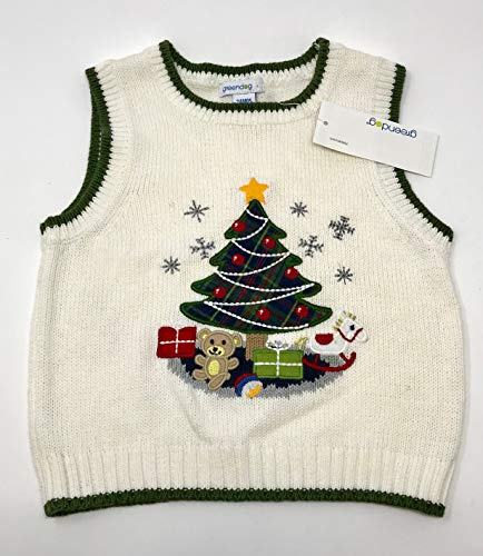Green Dog Baby Boys Holiday Sweater Vest - Holiday Boys Sweater