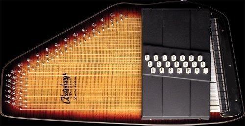 [해외]Oscar Schmidt Os150fce는 21 Chord Electric Autoharp와 무료 케이스를 불렀습니다./Oscar Schmidt Os150fce Flamed 21 Chord Electric Autoha