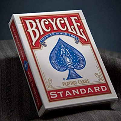 Bicycle Standard Playing Cards Edition Standards Poker Deck - Red: Toys & Games