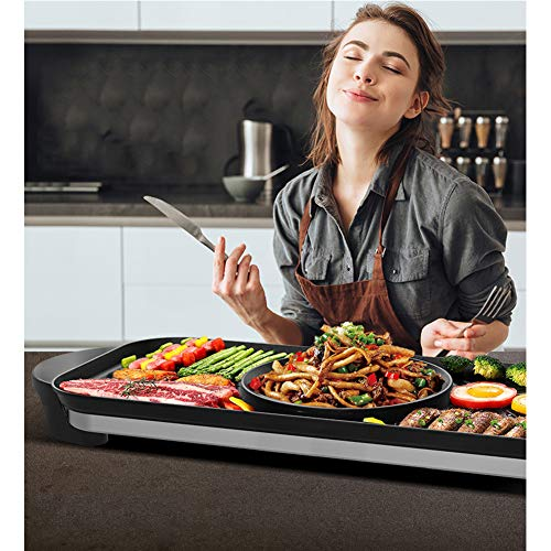 JINPENGRAN Home Smokeless Barbecue Electric Oven, Barbecue Electric Hot Pot One Pot, Large Electric Baking Pan, Can Be Grilled, Fried, Boiled, Braised,Large Capacity by JINPENGRAN (Image #1)