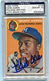 Hank Aaron signed 1954 Topps 128 RC ROOKIE CARD graded Gem mint 10 autograph - PSA/DNA Certified - Baseball Slabbed Autographed Cards
