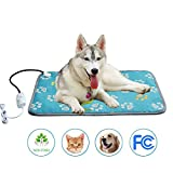 Warmer Pet Heat Mat Safety Outdoor and Indoor Pet Heating Pad 28W-55W Adjustable Temperature Waterproof Cat Dog Pet Bed Soft and Power Saving Electric Heating Blanket 19.69 x 27.56 inches Large