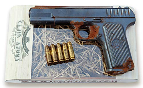IronChoco Life Size Solid Premium Dark Chocolate Gift Pistol | Best Gift For Man and Women
