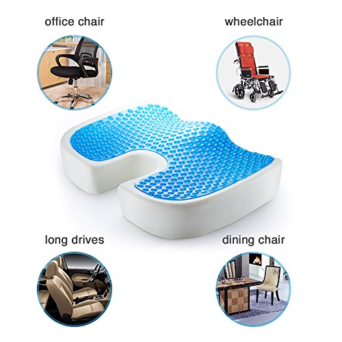 PROMIC Gel Coccyx Seat Cushion, Comfort Orthopedic Memory Foam Chair Cushions to Relief Back, Sciatica & Tailbone Pain, Ideal for Office Chair, Car Driver, Pregnancy, Wheelchair Back Support (Mesh) Photo #7