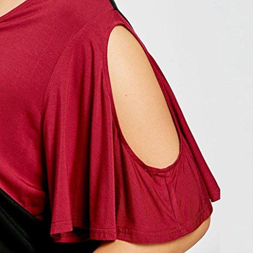 Corta Manica Nero Camicia V Collo Stampa Bhydry Animali A Donna Giacca B7yqf