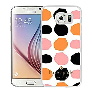 Lovely And Unique Custom Designed Kate Spade Cover Case For Samsung Galaxy S6 White Phone Case 112