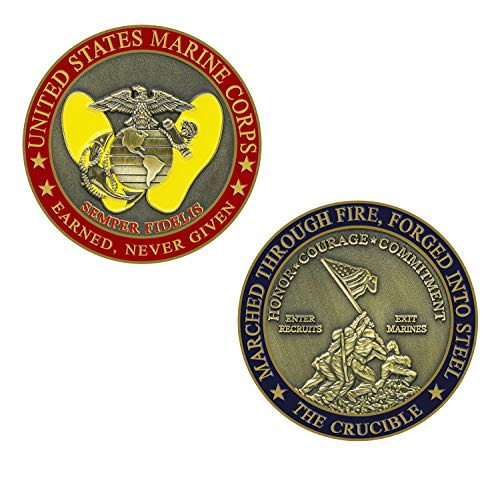 (Marine Corps Crucible Challenge Coin)