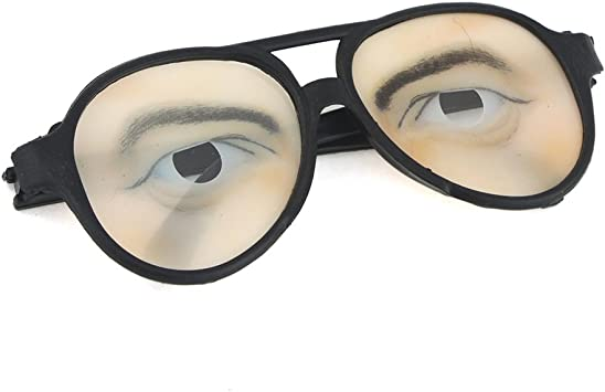 Party Funny Black Framed Eye Glasses Fancy Dress Party Accessory for Male Female