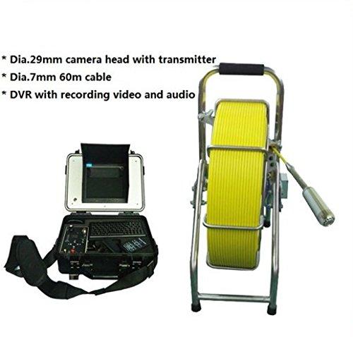 512 Hz transmmitter 29 mm self-levellingカメラSewer Boreholeパイプ検査カメラwith 60 M Snakeケーブル   B06XNNS1F6