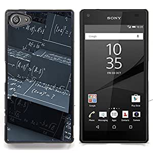 For Sony Xperia Z5 compact / mini - Maths Black Board Calculation Formula Art Case Cover Protection Design Ultra Slim Snap on Hard Plastic - God Garden -