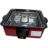 WANG GRILL Electric BBQ YAKITORI TERIYAKI Steak Barbecue Grill Indoor / Outdoor Square Shape Stainless Steel 1000 WATT, Compact Size 9x4x9 inch