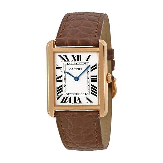 CARTIER TANK SOLO RELOJ DE MUJER CUARZO CORREA DE CUERO COLOR MARRÓN W5200025: Amazon.es: Relojes