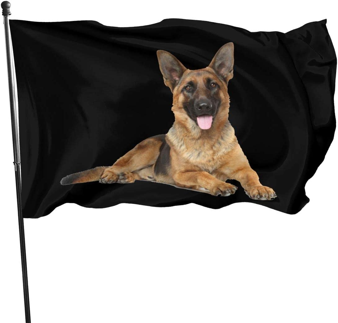 Dog German Shepherd Outdoor Flag Home Garden Flag Banner Breeze Flag USA Flag Decorative Flag 3x5 Ft Flag