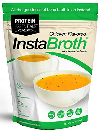 InstaBroth, Bone Broth Powder with Grass Fed, Pasture Raised Collagen and Gelatin, 12g Protein (6.4oz) (Chicken Flavor)
