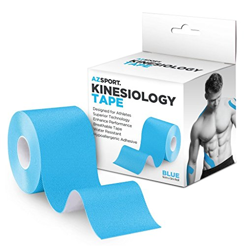 AZSPORT Kinesiology Tape, For Sport and Therapy, Uncut 2 Inch x 16 Foot Roll, Blue by AZSPORT