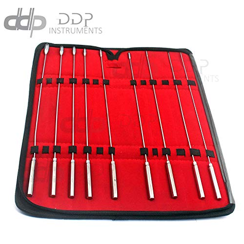 DDP 9 PCS Set of Bakes Rosebud DILATORS 1MM to 9MM Stainless Steel