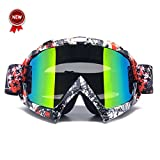 Zdatt Bendable Snow Skiing Snowboarding Goggles,Unisex Motocross Sports Snowmobile Snowboard Ski Goggles Anti Fog Dust UV, Dustproof Scratch-Resistant