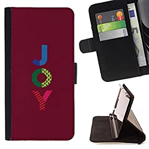 Jordan Colourful Shop - blue green purple text motivational For Apple Iphone 6 PLUS 5.5 - Leather Case Absorci???¡¯???€????€???????&b