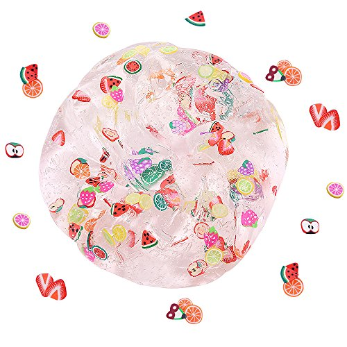 - Magic Crystal Fruit Slime, Children's Day Scented Toy Soft Rubber for Kids, Students, Birthday, Party, New Year Gift Children Arts Crafts Party School Supplies