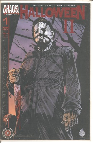 (Halloween II #1 Blackest Eyes Rare Red Foil DF Only 500 copies! COA (Halloween Michael Myers,)