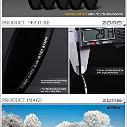 ZOMEi 55MM IR 680 GLASS Infrared X-Ray Filter