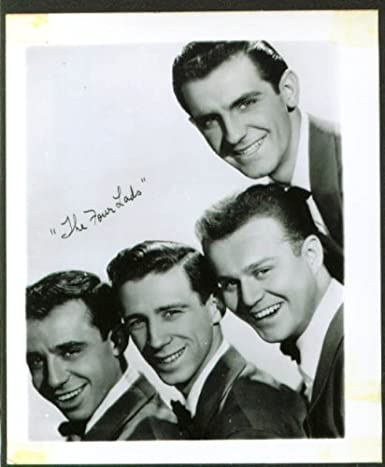 Pop Singing Group The Four Lads Fan Club Photo 1950s