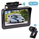 LeeKooLuu HD Wireless Backup Camera with 5' LCD Monitor for Car,Truck,SUV,Pickup,Van, Digital High-Speed Observation System with Super Night Vision,IP 69K Waterproof Camera,Guild Lines ON/Off