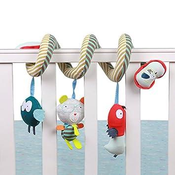 Treasure-house bebé cuna cama cochecito jugar para colgar sonajero juguete coche colgar carrito cochecito Juguetes con diseño de animal amarillo