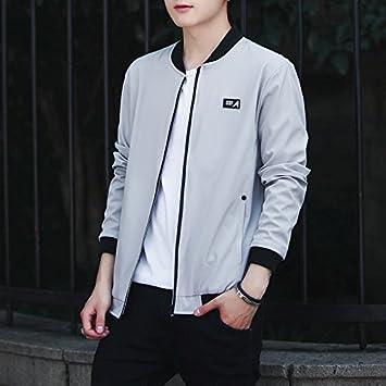 Hombres chaqueta uniforme versión coreana del béisbol ...