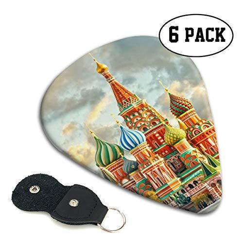 Karen Felix Classic Guitar Pick (6 Packs) Red Square Moscow Celluloid Guitar Picks Plectrums for Guitar Bass