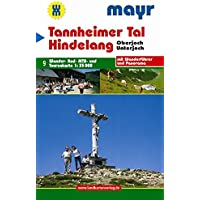 Tannheimer Tal - Hindelang: Wander-. Rad-, MTB- und Tourenkarte 1:35000 mit Wanderführer und Panorama