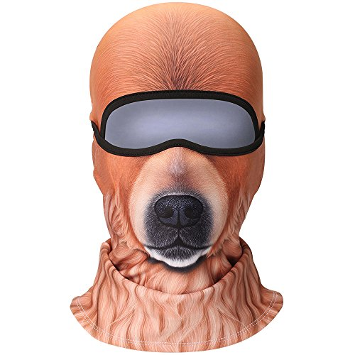 (3D Animal Fleece Neck Warmer Thermal Windproof Balaclava Face Mask Protection Hood Cover for Ski Snowboard Skateboard Cycling Motorcycle Music Festivals Raves Halloween Party Men Women Bear #6 )