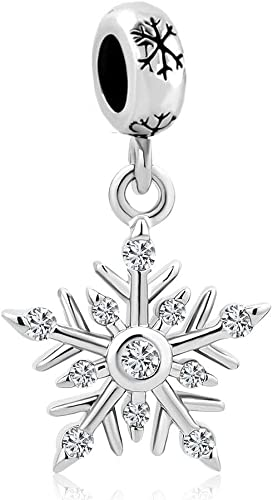 Sterling Silver Engraved Snowflake Heart Charm