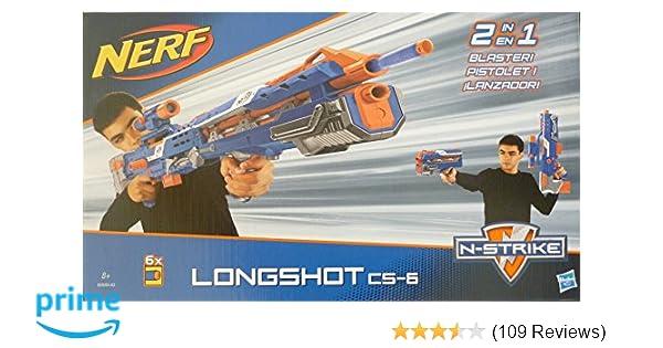 Spielzeug-Bogen, -Armbrust & -Dart Spielzeug für draußen Hasbro B5540 Nerf N-strike Elite Longshot Cs-6 günstig kaufen
