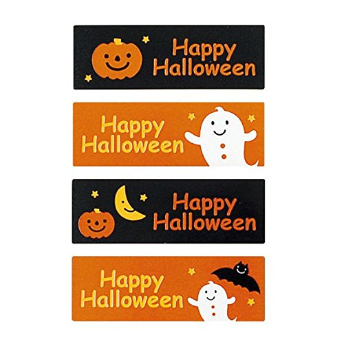Happy Halloween Baking Stickers Party Bag Favor Assorted Halloween Seal Sticker Labels - 20 Sheets -