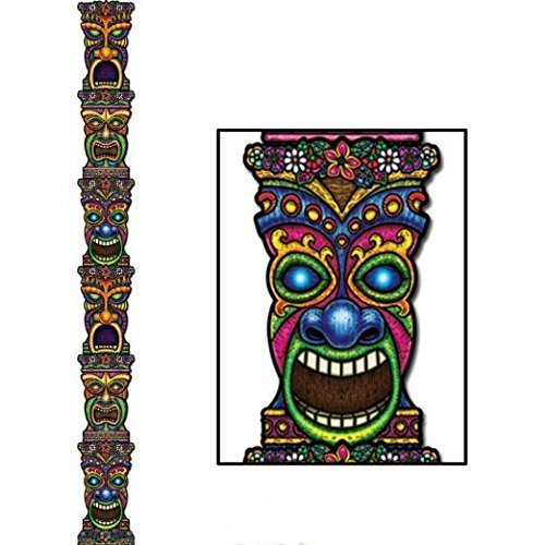 Jointed Tiki Totem Pole Party Accessory (1/pkg) Pkg/3