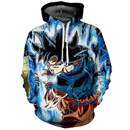 COGA Goku Ultra Instinct Power Hoodie 8 Asian 3XL ()