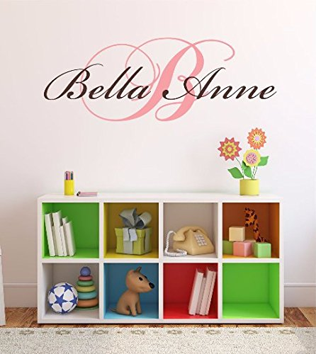 Custom Wall Decor - Nursery Custom Name and Initial Wall Decal Sticker 36