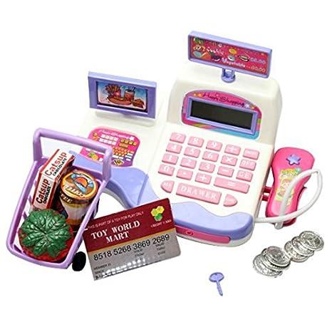 Juguete de caja registradora - Baoli perfecto regalo de ninos juguetes de caja registradora de supermercado: Amazon.es: Juguetes y juegos