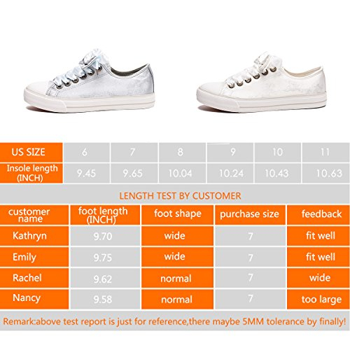 Pictures of ZGR Womens Fashion Canvas Sneaker Low Cut White4 8 M US 2