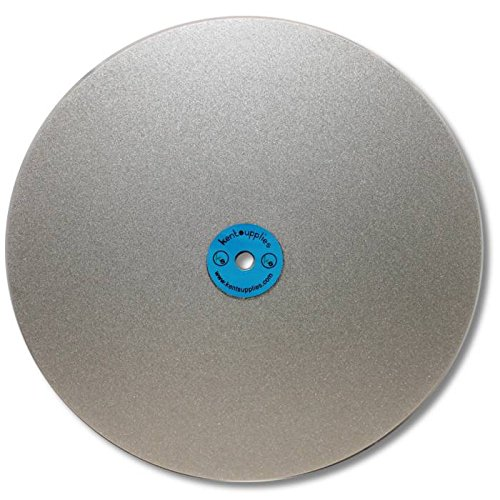 KENT 12'' Diam. Grit 320 Quality Electroplated Diamond Coated Flat Lap Disk wheel