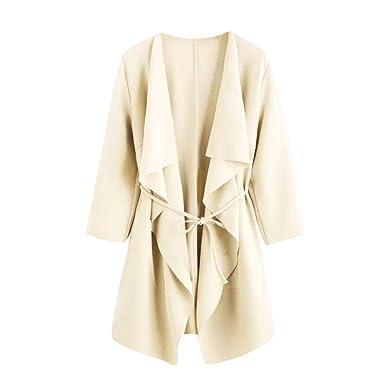 ba8223ccad3c8 Trench-Coat Femmes,Covermason Femmes Loose Cardigan Veste Lâche Blazer Manche  Longue Trench Coat
