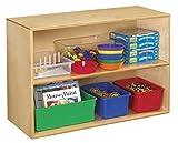 Childcraft 1335360 Storage Unit, Birch Veneer Panel, 4-Coat UV Acrylic, 2-Shelves, 35-3/4'' x 14-3/4'' x 24'', Natural Wood Tone