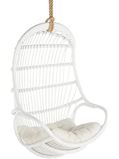 KOUBOO 1110015 Rattan Hanging Chair, Large, White